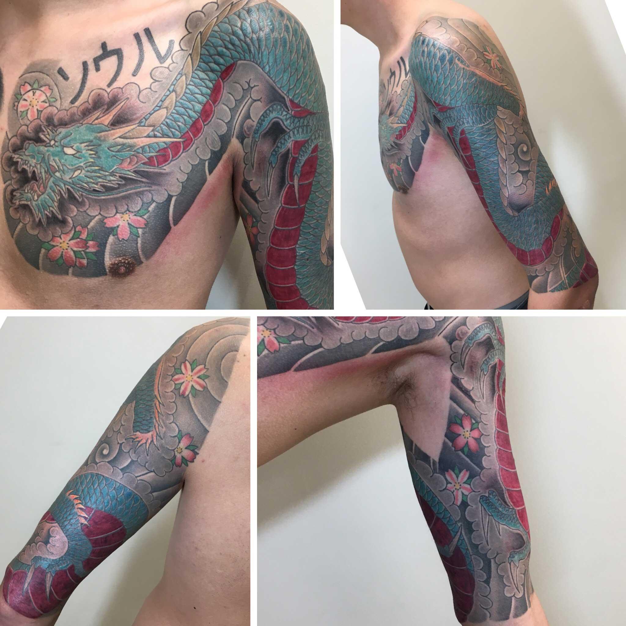 Japanese Style Tattoo Artist Ei Omiya at Funhouse Tattoo in San Diego