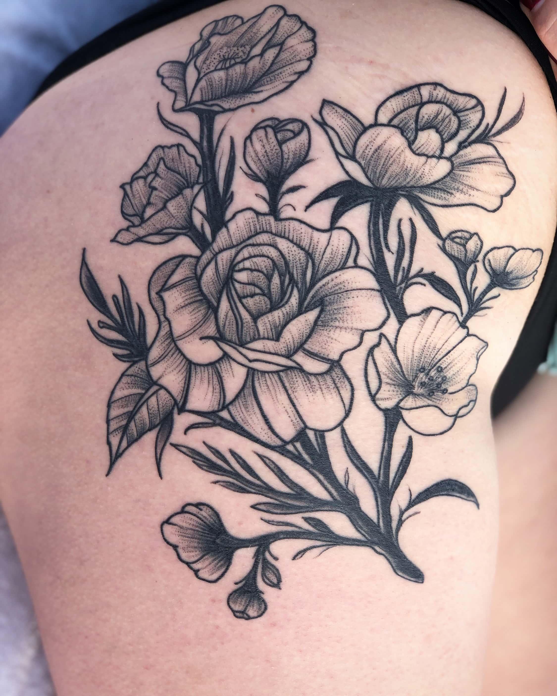 Healed roses dot work-min