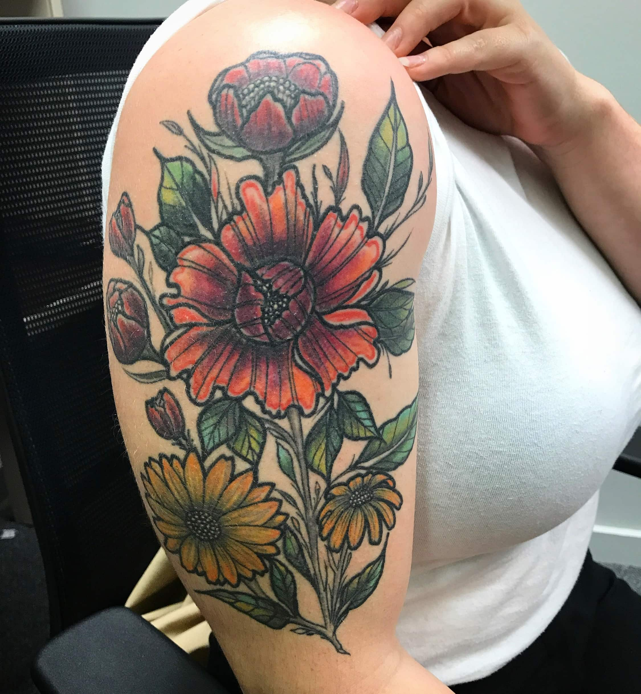 One year old healed flowers-min