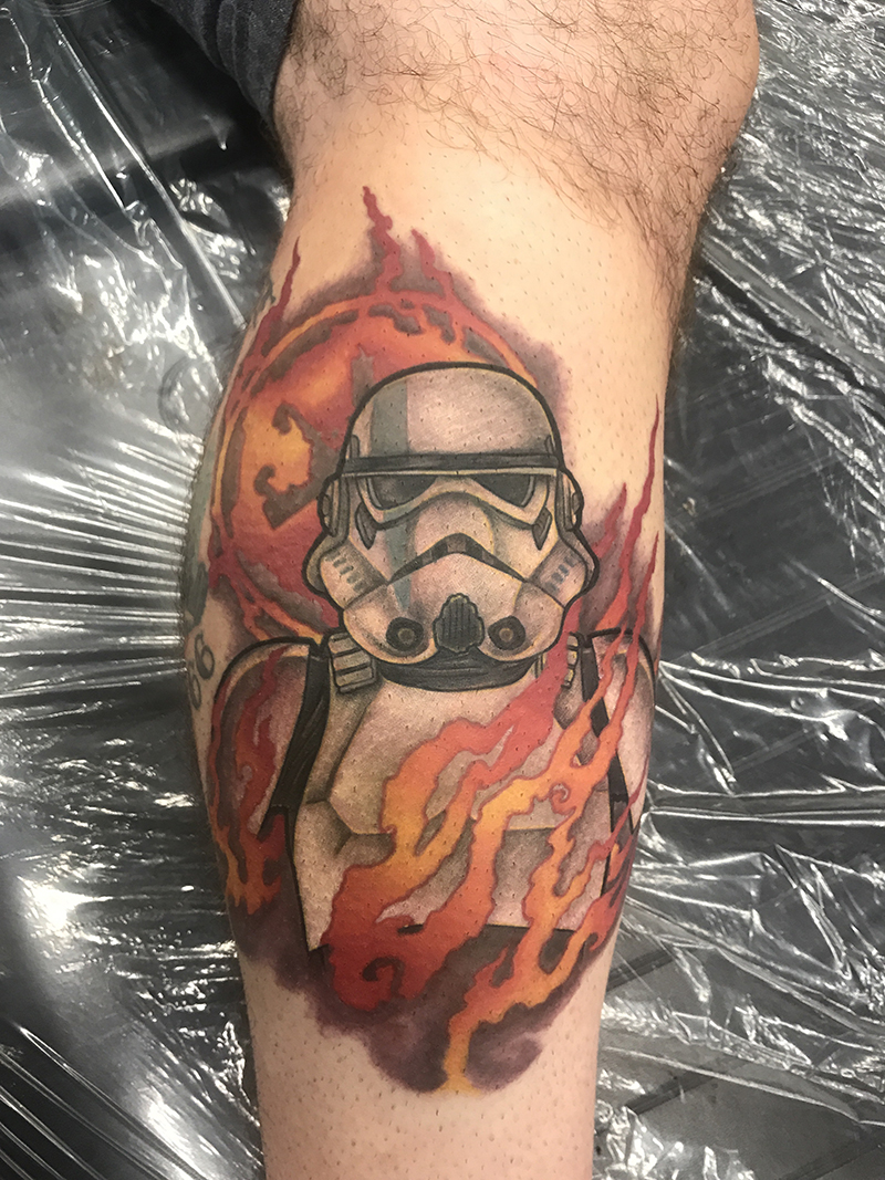 Neo traditional stormtrooper tattoo