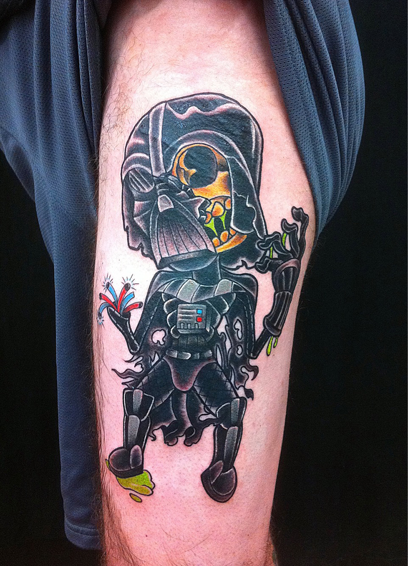 cartoon zombie darth Vader zombie tattoo
