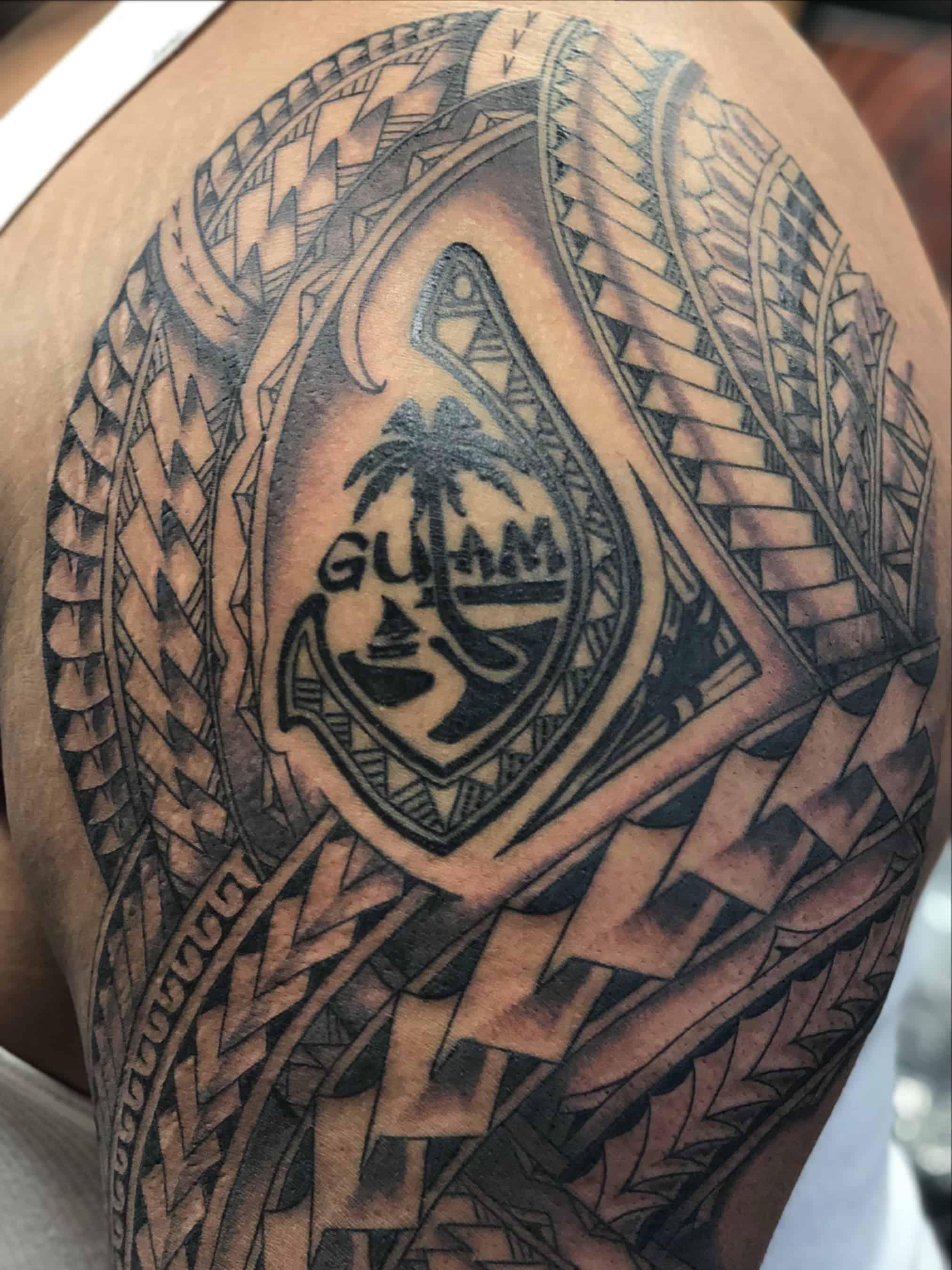 Guam tribal tattoo