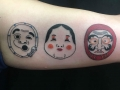 japanese cartoon faces by Ei Omiya at Funhouse Tattoo in San Diego