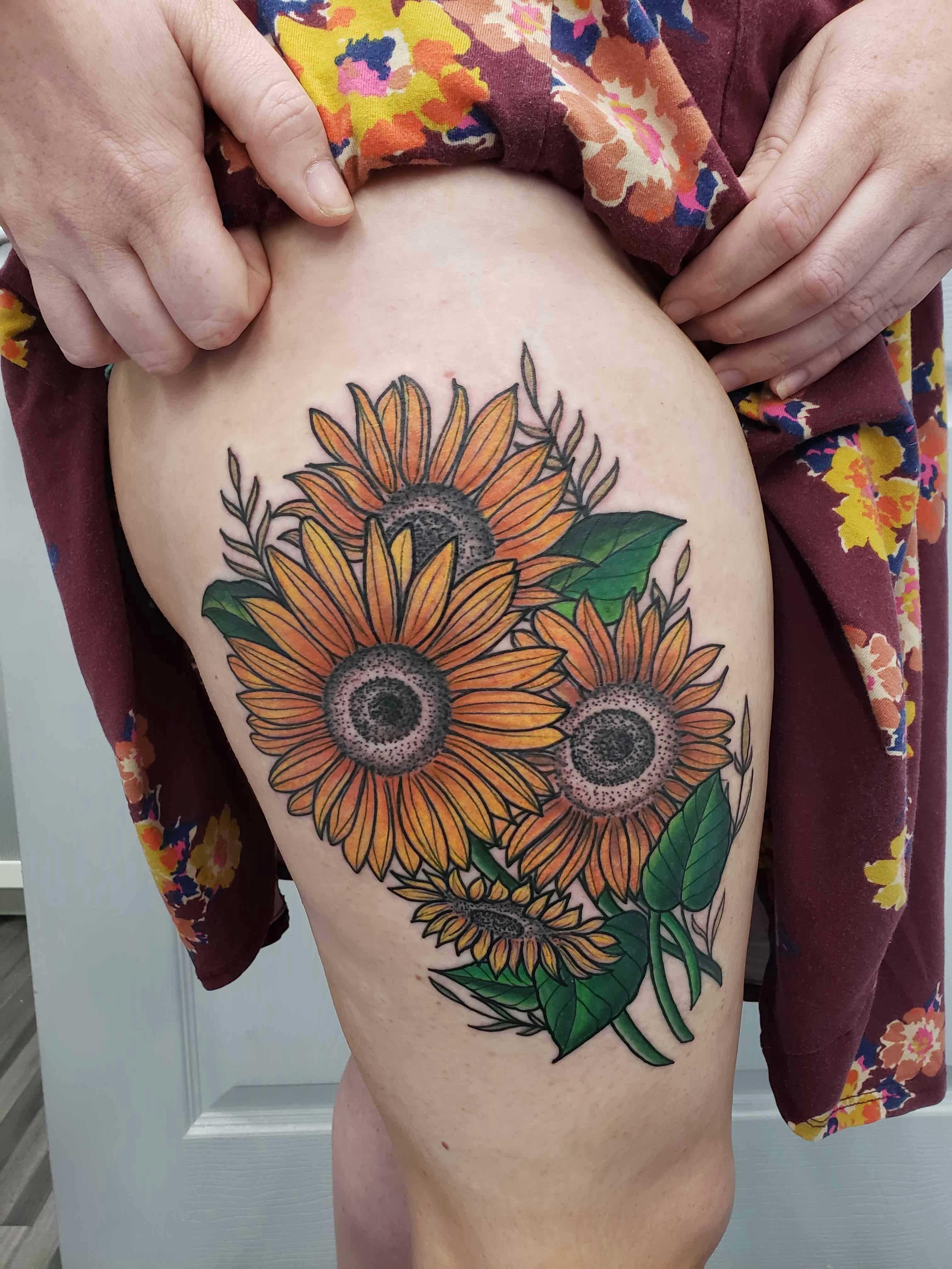 sunflower tattoos