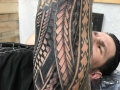 sleeve tribal tattoo by Seth Reynolds