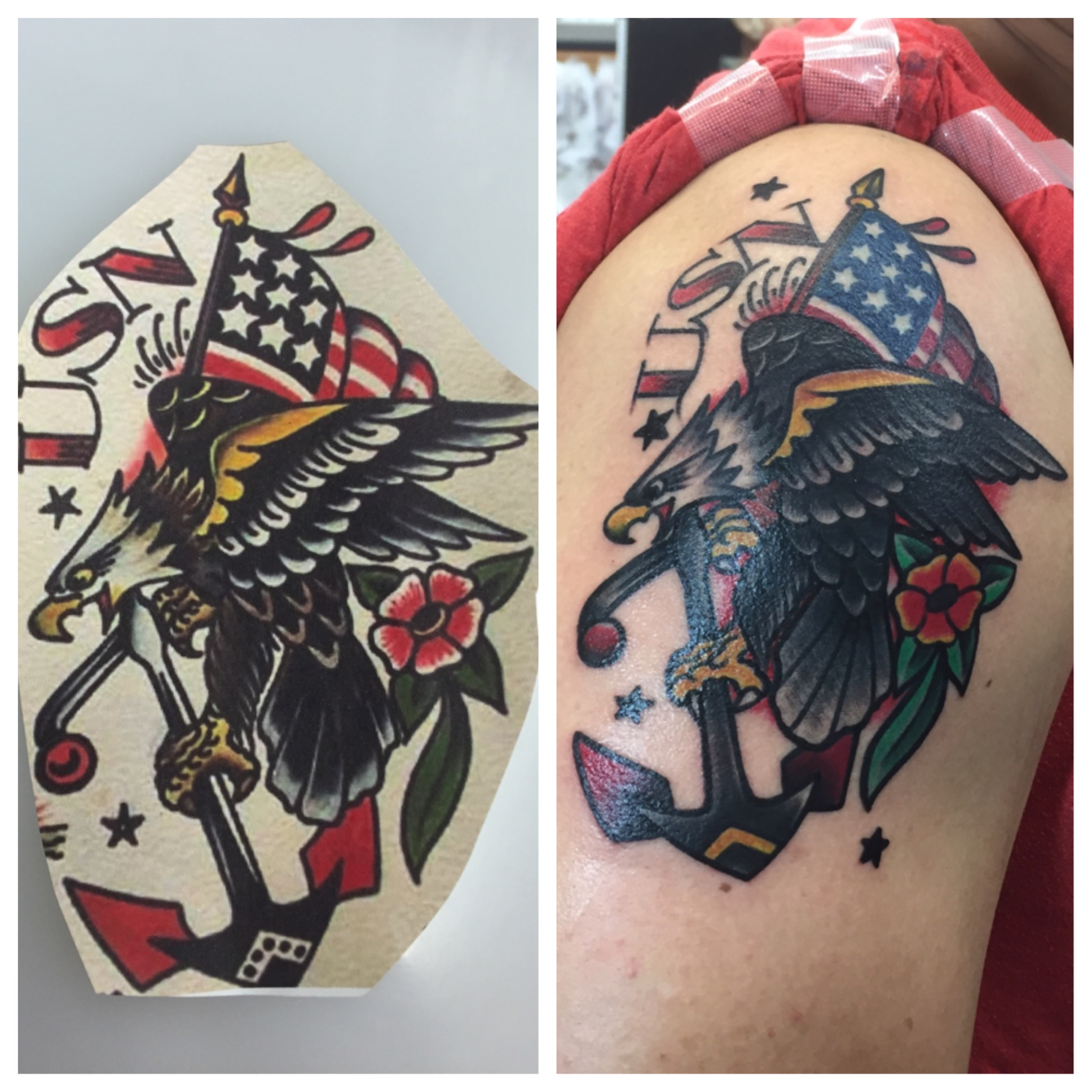e969981e2 American traditional tattoo ogf sailor jerry eagle