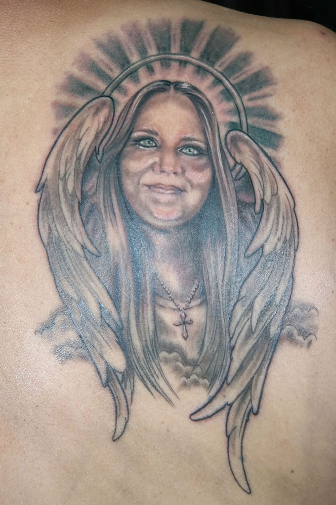 Angel Green Eyes Funhouse Tattoo San Diego