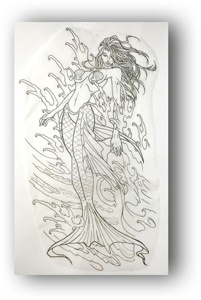 Neo Traditional Mermaid Tattoo: Funhouse Tattoo San Diego