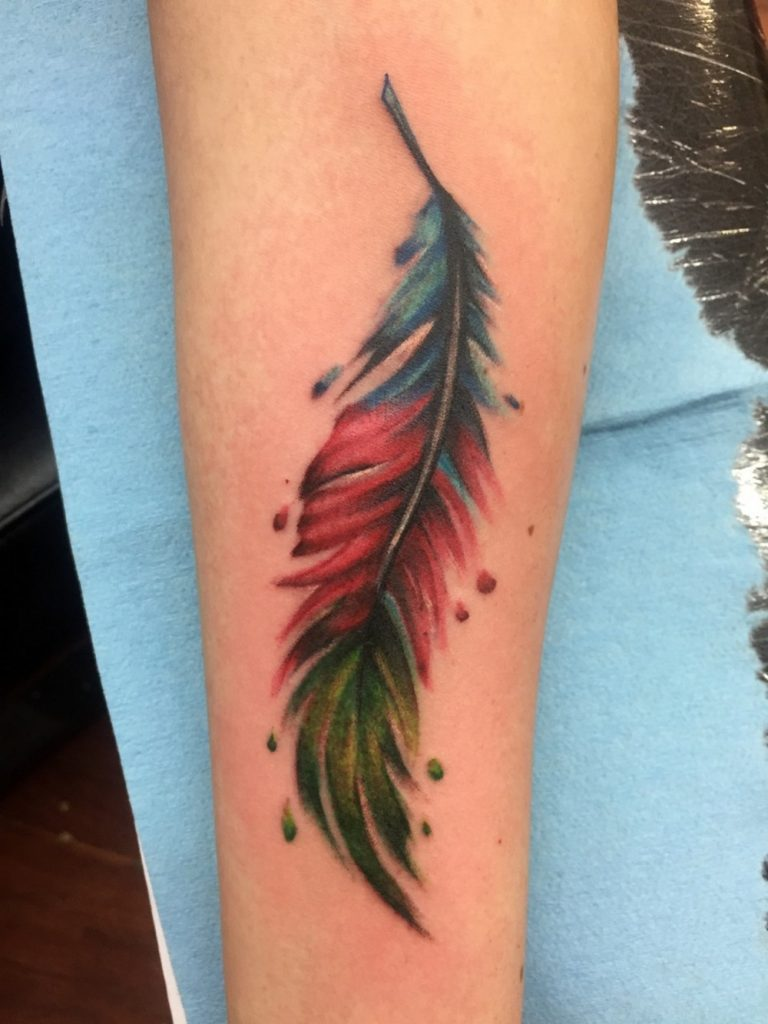 Watercolor tattoos funhouse tattoo san diego for Water paint tattoo