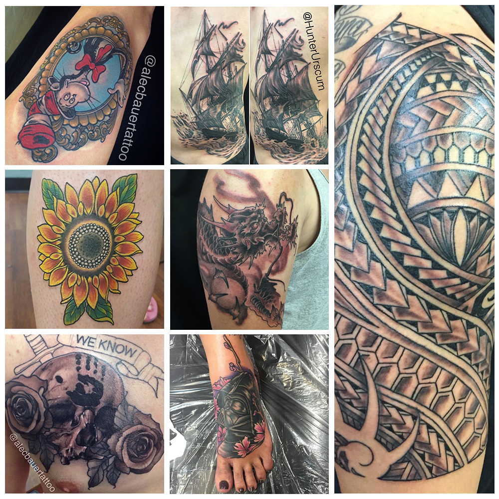 San diego s tattoos of the month july funhouse tattoo for Best tattoo shops in san diego