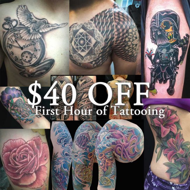40% Off Tattoo Special in Pacific Beach