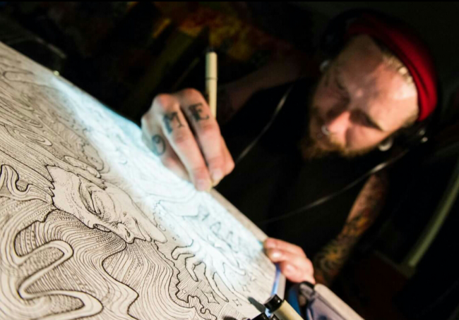 Tristan tattoo artist in San Diego