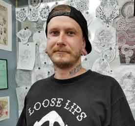 Resident Tattoo Artist at Funhouse Tattoo San Diego Tristan Lewelyn