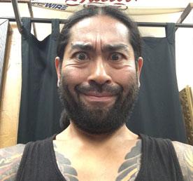 Japanese style tattoo artist Ei Omiya in San Diego