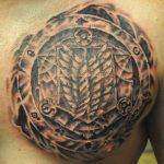 carved in symbols